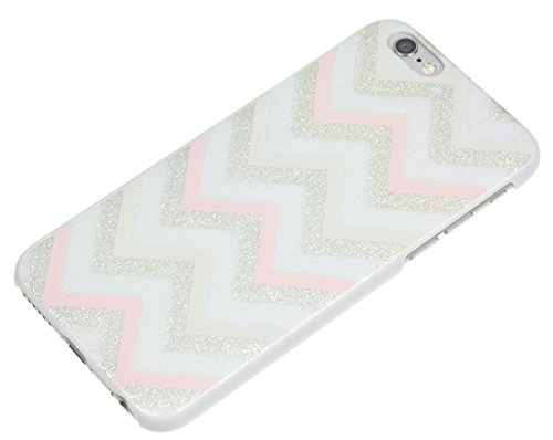 Trendz Hard Shell Schutzhülle Clip-On Case Cover für iPhone 4/4S - London Silhouettes Glitzer Chevron