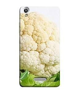 FUSON Designer Back Case Cover for Lava Pixel V1 (Organic Cauliflower Background Table Farmer Subji)