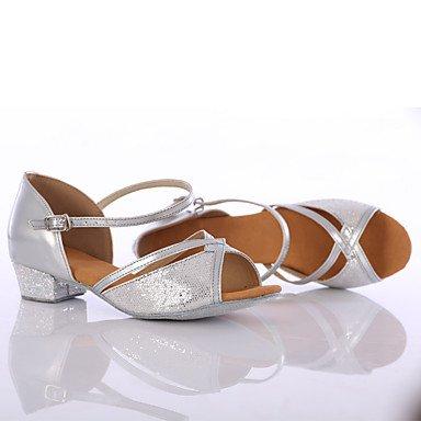 Ruhe @ Damen Tanzschuhe paillette Paillette Latin/DANCE Sneakers Heels Chunky Ferse Innen/Performance goldfarben