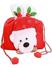 49d7998b6 BESTOYARD Bolsas de Dulces para niños Bolso portátil con asa Favor de  Fiesta de Navidad (