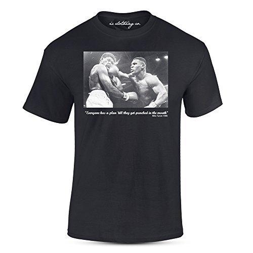Eisen Mike Tyson Zitat Gelocht im Mund Schwarz Premium T-Shirt Boxen - Schwarz, Large Eisen-boxen