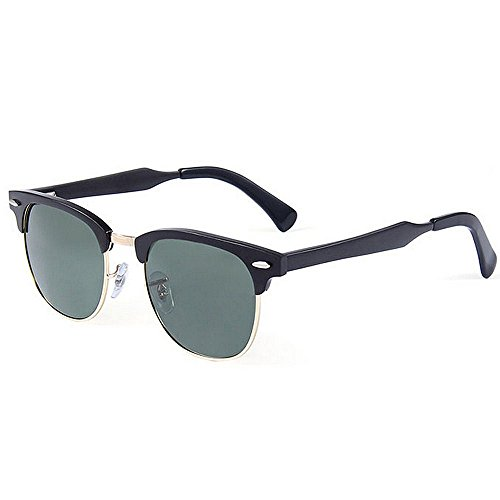 Ppy778 Premium Al-Mg-Legierung Aviator polarisierte Sonnenbrille UV400, voll verspiegelte Federscharniere Sonnenbrille für Männer Frauen (Color : Silver)