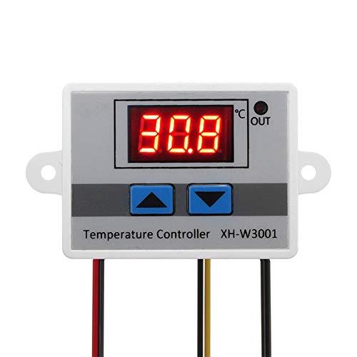 ARCELI Digitales LED-Temperaturreglermodul, XH-W3001 Thermostatschalter mit wasserdichter Sonde, programmierbares Heizungs-Kühlungs-Thermostat