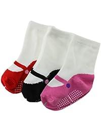 3 Pares/Conjunto Calcetines Bebé Unisex De Algodón Como Los Zapatos Patrón 3 Color Incluye Para Niños