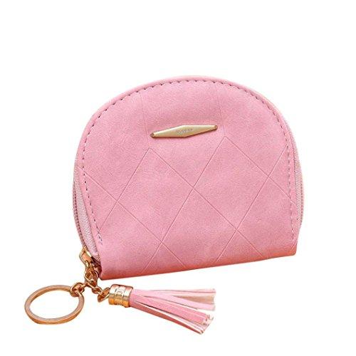 Portafoglio Donna, Tpulling Borsa delle donne semplice borsa della borsa della borsa del raccoglitore della borsa (Beige) Pink