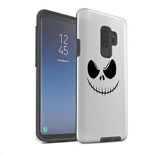 n Stoßfest Hülle/Case für Samsung Galaxy S9 Plus/G965 / Jack Skellington Inspiriert Kunst Muster/Grusel Filmkunst Kollektion ()