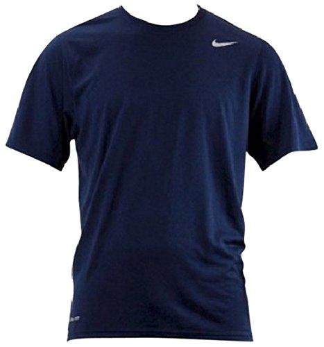 Nike Legend Poly SS Tee–Maglietta a maniche corte per uomo Navy