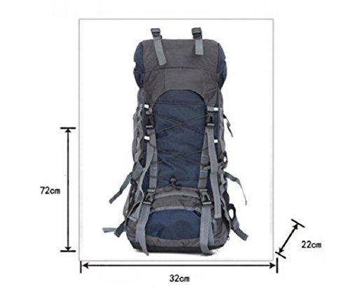 LQABWOutdoor Große Kapazitäts-60L Bergsteigen Tasche Wasserdicht Atmungs Camping Package Wanderrucksack Orange