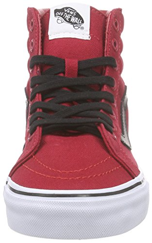 Vans Unisex-Erwachsene Sk8-Hi Reissue Sneaker Rot (canvas/chili Pepper/black)