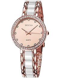 LYZwb Reloj De Pulsera Reloj Estilo Trendy para Mujer con Superficie Perforada De Concha Marina