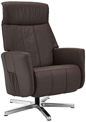 Sino-Living SE-822 Relax und Ruhesessel mit manueller Verstellung, dickleder / braun