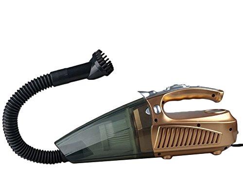 CAOLATOR Auto Staubsauger Reifendrucktisch Aufblasvorrichtung Taschenlampe 4 in 1 Multifunktions -Staubsauger Gold