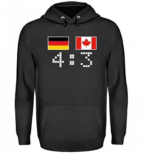 Hochwertiger Unisex Kapuzenpullover Hoodie - Deutschland Kanada Eishockey Pyongyang
