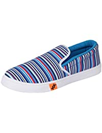 Smart Casual Men Sneakers With PVC Sole - Crazy Stripped Print Slip-ons - Men Shoes - Multicolored By Saasha