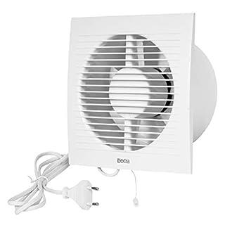Wandventilator Lüfter Abluft Kabel Schalter Ventilator Küche WC Bad Ø 150 mm EE150wp