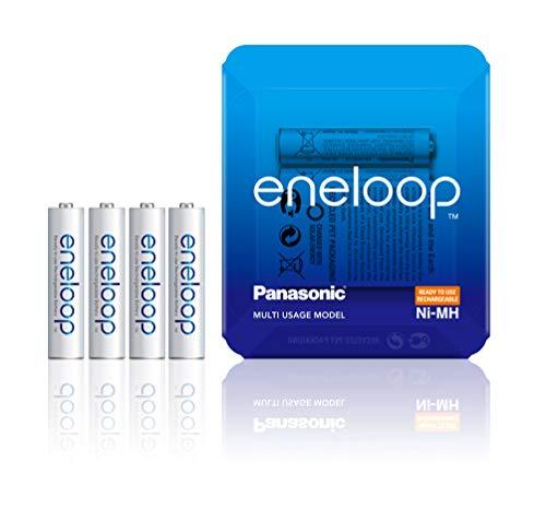 Panasonic eneloop, Ready-to-Use Ni-MH Akku, AAA Micro, 4er Pack, Verpackung als Storage Case, min. 750 mAh, 2100 Ladezyklen, starke Leistung, wiederaufladbare Akku Batterie