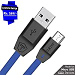 ► Charge & Sync: Micro USB to USB with 2.4 Amp Fast Charging & High Speed data transmission & 3.2 Feet (1 mtr) Length. Can Charge & Sync at a time.    ►Perfect Fit & Reliable: Stainless steel connector heads slot in easily &amp...