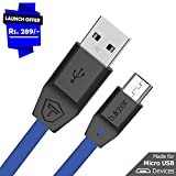 Tukzer Premium Micro-USB to USB Cable V2.0 Fast Charging 2.4 Amp & Data Cable [1M/3.2ft - Blue]