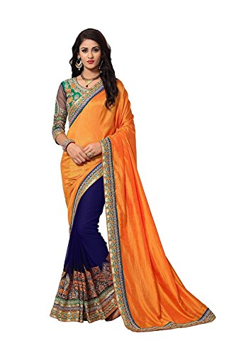 Magneitta Saree With Blouse Piece (97061_Multi coloured_Free Size)