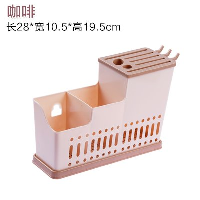 haihaha-all-plastic-water-lek-yuen-chopsticks-cage-tableware-rack-3-color-optional-brown