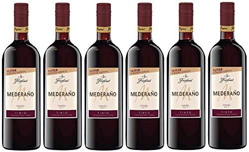 Mederaño Tinto Wein 1, Cuvée, halbtrocken, Rotwein aus Spanien, (6 x 1l)