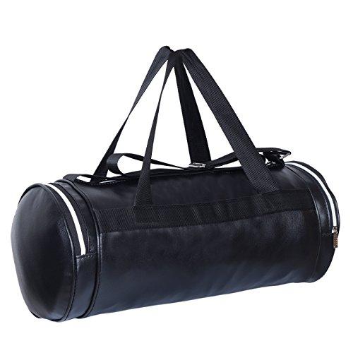 Dee Mannequin 2213 Fitness Leather Gym Bag (Black)