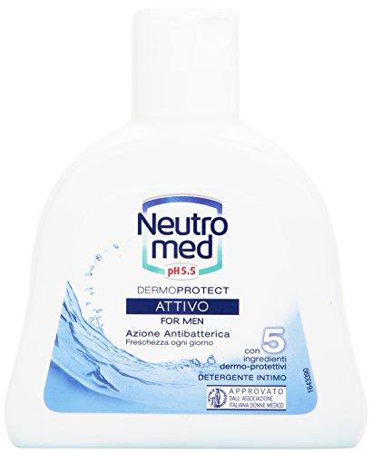 Neutromed - Dermo Protect Attivo, Detergente Intimo per Uomini, Azione Antibatterica - 200 ml