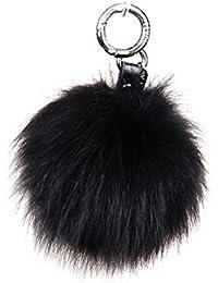 URSFUR Volpe palla di pelliccia portachiavi ciondolo in pelle catena  portachiavi regalo regalo Pompom b17a326f3ef4