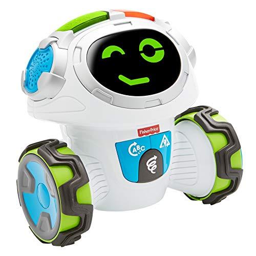 Fisher-Price- Roby Robot Gioca & Impara, Robottino Giocattolo Educativo per Bambini dai 3 Anni, con Musica, Suoni e Canzoni, FLP12