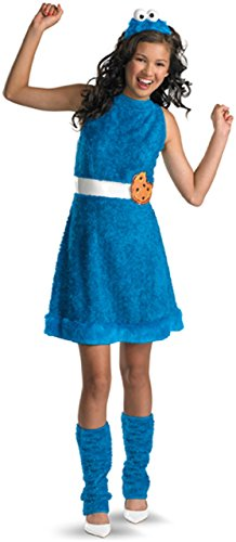 Monster Street Sesame Cookie Kostüm - Disguise Sesame Street Cookie Monster Teen Girls Costume, X-Large/14-16 by Disguise