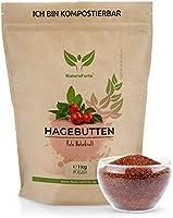NaturaForte Hagebuttenpulver 1kg - Rohkostqualität aus kontrolliertem Anbau, Pulver aus ganzen Hagebutten gemahlen,...