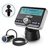 Oasser Trasmettitore FM Bluetooth per Auto Aadio Ricevitore Adattatori Vivavoce Car Kit, Wireless Bluetooth Auto con 2.4 Pollici Display LCD Bluetooth4.2+EDR e MP3 Caricabatterie Auto Quick Charge 3.0