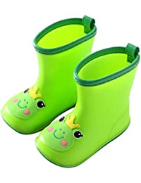 Happy Event kawaii Rain Boots–säugling infantil/bebé niña niño amarillo Caricatura Pato goma resistente al agua caliente Botas