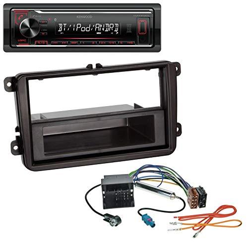 caraudio24 Kenwood KMM-BT204 AUX MP3 Bluetooth USB Autoradio für VW Caddy Golf (V VI) Jetta (ab 03)