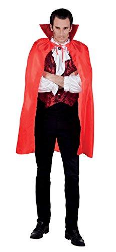 Boland 96921 - Umhang für Erwachsene, rot, ca. 120 (Teufel Kostüm Männer Halloween)