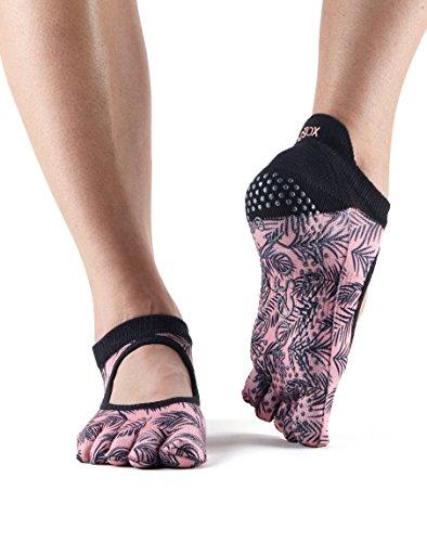 Toesox–Calcetines agarre completo Bellarina Toe calcetines, calcetines de baile y se puede utilizar para barre, Yoga, Pilates, Fitness Antideslizantes Calcetines–1par, Palm, Medium