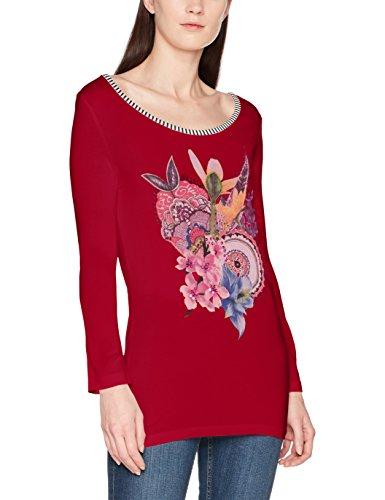 Desigual Damen T-Shirt TS_Simba, Rot (Borgoña 3007), Medium