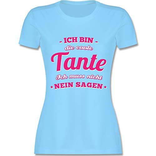 31251d019886 Schwester   Tante - Ich Bin die Coole Tante - S - Hellblau - L191 - Damen  T-Shirt Rundhals