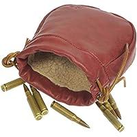 """Original Power Bolsa de Cartucho de Rifle de Cintura de Cuero, Bolsa de Soporte de munición de Escopeta con cordón (Large - 7"""")"""