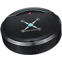 IPOTCH Limpiador Automático Inteligente Robot Aspirador de Polvo Piso Cómodo - Negro