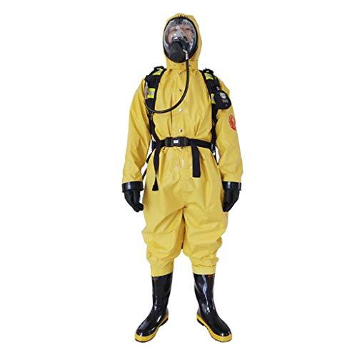 CFF IT Indumenti protettivi chimici con Cappuccio Anti-Acido e Anti-Virus Gas Indumenti protettivi monoblocco semichiuso