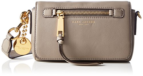 Marc Jacobs Damen Recruit Crossbody Umhängetasche, Beige (Blau (Mink)), 2x12x20 cm