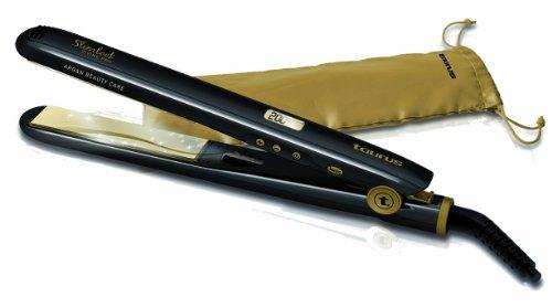 Taurus - Plancha Pelo Slimlookdivinepro, Control Digital, Placas Básculates Con Ceramica Tratada Con Aceite Argan, Func Ionic, Bolsa Termica. Negro.