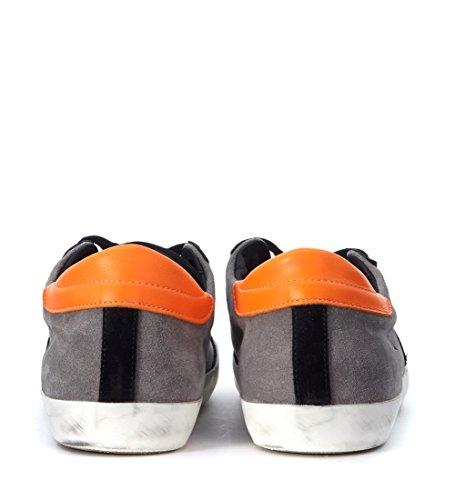 Basket Philippe Model Classic en chamois gris et noir Gris