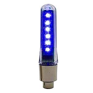 VANKER Rueda 1X a Prueba de Agua de luz LED Carta Bici del Coche de neumático de la Motocicleta de la decoración de la válvula (Azul)