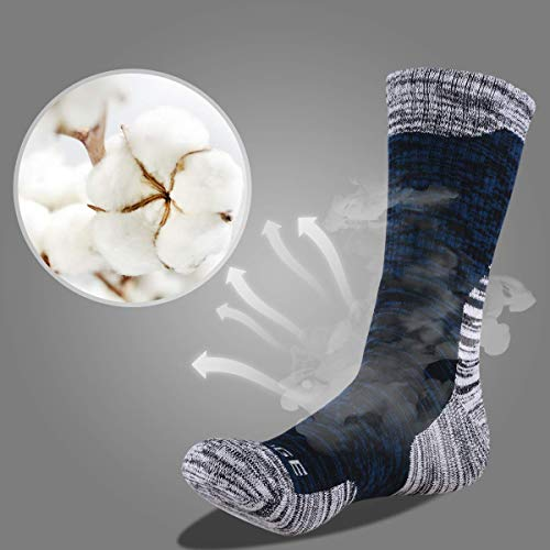 41SZW9QPeeL. SS500  - YUEDGE Mens Socks Size 6-11 12 Cotton Rich Athletic Socks of Wicking Breathable Cushion Anti Blister for Outdoor Hiking