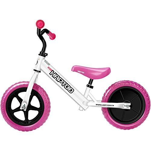 HAPTOO Laufrad ab 1-5 Jahre aus Stahl, Lenker-und Sattelhöhenverstellbar, 10+ Farben Laufräder für Jungen und Mädchen 2-5 Jahre / 90-120 cm, 12 Zoll