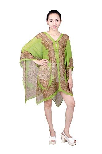 Lofbaz Damen Klassisch Beiläufig Poncho Design #1 Dunkelgrün