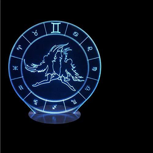 Cmhai Lámpara De Mesa Led 3D Géminis Usb Vision Luz Nocturna ...