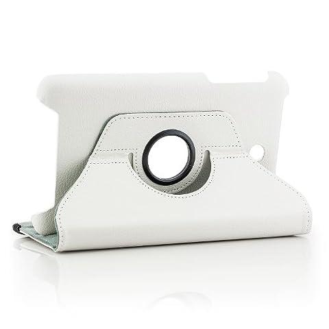 Saxonia Asus Memo Pad 8 Hülle Case Tablet Tasche Schutzhülle (360°) Cover Premium Qualität Weiß